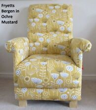 Fryetts Bergen Ochre Fabric Chair Mustard Accent Armchair Spring Flowers Yellow