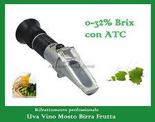 Rifrattometro per uva, mosto, vino, birra, frutta 0-32% Brix, Refractometer wine