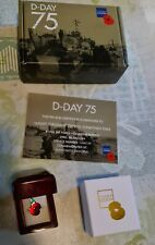 D DAY 75 Anniversary Brass Poppy Pin