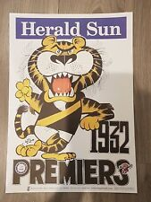 1932 RICHMOND TIGERS PREMIERSHIP WEG POSTER LIMITED EDITION OUT OF 1000