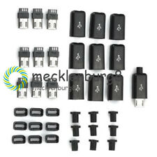 10PCS DIY Micro USB Type B Male Plug Connector Kit with Plastic Cover NEW