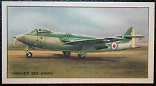 Hawker Sea Hawk   Royal Navy Jet Fighter  Vintage Picture Card