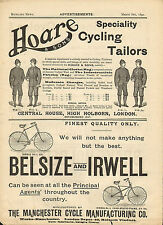 1890  page print from bicycling news -  great adverts and fashion