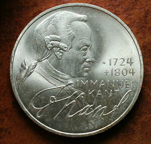 1974 Germany 5 Mark D Silver Coin