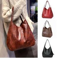 EG_ Vintage Women Faux Leather Ladies Shoulder Bag Tote Bag Handbag Retro Health