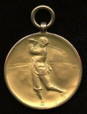 """Dundee Shipping 9kt Golf Club Gold Medal """"Captains Medal 1926 Won by Wm. Kinnear"""