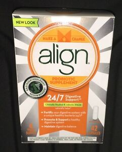 NEW Align Probiotic Digestive Care Supplement 42 Capsules DECEMBER 2021 #4177