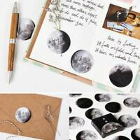 45Pcs/Set Mini Moon Label Paper Sticker Diary Scrapbooking Decorate Journal Gift