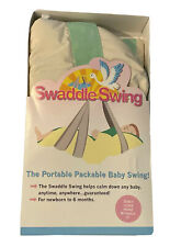 KidCo Portable Swaddle Swing Newborn - Green & White Polyester