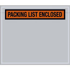 "1,000 Packing List Envelopes 4-1/2"" x 5-1/2"" Clear Packing List Enclosed Pouches"