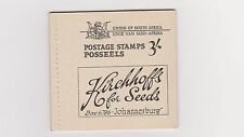 South Africa 1948 STAMP Booklet w Advertising MINT  w 2 x Sc 45c, Sc 48c ,52d