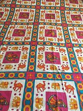 INDIAN 100% COTTON DOUBLE SIZE PINK CAMEL and GUJRI PRINT BEDSPREAD