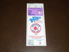 1986 BOSTON RED SOX WORLD SERIES TICKET STUB GAME 3 VS NEW YORK METS EX-MINT