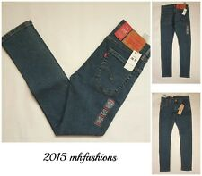 """Levi's Mens 519 Extreme Skinny Fit Stretch Low Rise Jeans,"""" Crane """" Size 30 x 30"""
