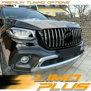 Chrome Bumper Grille Grill GT AMG Style For Mercedes Benz X-Class Pickup 470 Ute