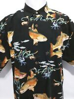 Guy Harvey Red Fish Colorful Fish Crabs Short Sleeve Shirt Mens Size Large