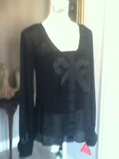 Holly Willoughby  2 piece Black designer blouse/camisol, size 8 BNWT