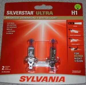 Sylvania SilverStar Ultra H1 Dual Pack Bulbs/ Brand New And Sealed!!!