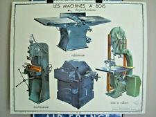 affiche scolaire Rossignol MACHINES A BOIS et MÉTAUX années 50/60 DECO LOFT