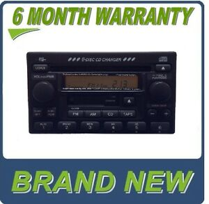 NEW HONDA CR-V CRV Radio Stereo 6 Disc Changer CD Player w/ Clock Factory OEM