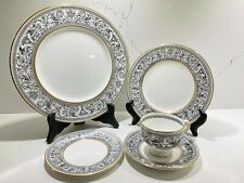 Wedgwood England Fine China Florentine Black Dragons 5 Piece Place Setting