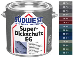 Südwest Super Dickschutz - Eisenglimmer Zinkfarbe Rostschutzfarbe - Farbtöne DB