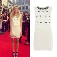 Karen Millen Textured Crop Top Overlay Party Wedding Cocktail Dress 8 to 10 £235
