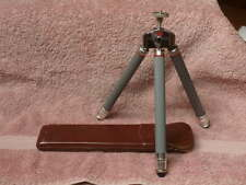 Vintage Bilora Biloret Model 2017 Telescoping Travel Tripod w Leather Case VGC!