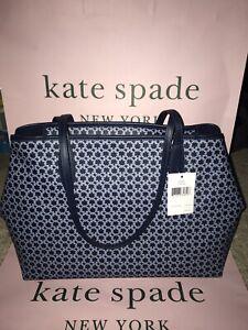 KATE SPADE SPADE LINK TOTE SATCHEL BAG:BRAND NWT SPADE LINK BLUE/MULTI  WKR00068