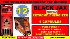 12X STACKER 2 BLACK JAX EXTREME ENERGY FAT BURNER INCREASE STAMINA (48 Capsules)