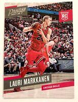 Lauri Markkanen rookie card 2017-18 Panini Prestige #157 Chicago Bulls