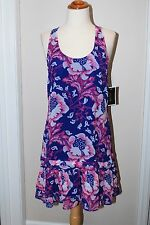 Juicy Couture Purple Tiered Ruffle Strappy Racerback  Dress Size XS