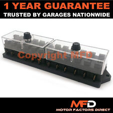 CAR MOTORCYCLE QUAD BIKE FITS 99% CARS 12 WAY UNIVERSAL STANDARD 12V FUSE BOX