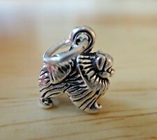 Sterling Silver 3D TINY 11x10mm Solid Pomeranian Dog Charm!