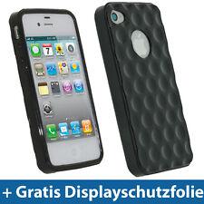 Schwarz Gel TPU Tasche für Apple iPhone 4S 16GB 32GB 64GB Hülle Schutz hülle