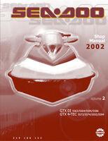 New Sea-Doo GTX DI, GTX 4-Tec Repair Shop Manual 2002 FREE SHIPPING SeaDoo
