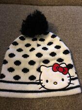 Hello Kitty Faux Fur Peruvian Style Winter Hat Sparkle Bow Detail LAST FEW SALE