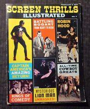 1964 SCREEN THRILLS ILLUSTRATED Magazine #7 FN- 5.5 Captain America