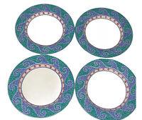 "Dansk Dinnerware Mosaic Wave Set Of 4 9"" Deep Dish Salad Plates"