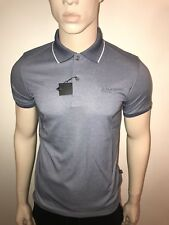 "MENS HUGO BOSS POLO SHIRT GREY LARGE 40/42""CHEST BARGAIN £39.99"