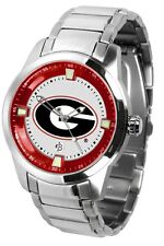 Georgia Bulldogs Mens Titan Steel Watch with Dog Tag & Wallet