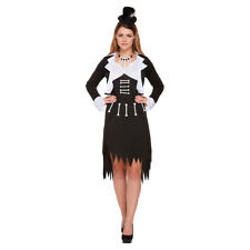 Blue Banana Black/White Voodoo Womens Ladies Halloween Fancy Dress Costume