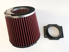 RED Air Intake Filter + MAF Sensor Adapter For 1995-1998 Nissan 200SX 1.6L L4