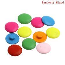 20 in legno colori assortiti Bright Shank pulsanti 20mm da cucire PREZZO D'OCCASIONE