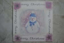 NEW Christmas Card Greeting Card--Snowman Scene