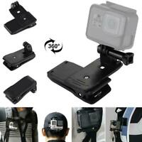 360° Rotary Backpack Hat Belt Clip Fast Clamp Mount 4 5 For Gopro Hero6 A0Q9