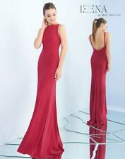 be3dd8a2a5305 NEW IEENA for MAC DUGGAL 25220i Red Jersey Stretch Mermaid Bodycon V-Back  Gown 2