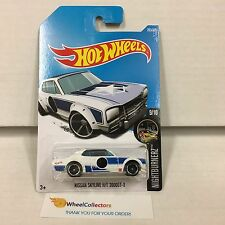 Nissan Skyline H/T 2000GT-X #283 * White/Blue * 2017 Hot Wheels Case N * D30