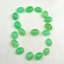 Oval 8x6mm Cabochon Translucent Green Natural Australian Chrysoprase Gemstone