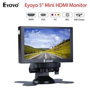 "Eyoyo 5"" Car Monitor 800x480 support VGA HDMI BNC AV for Car Photographed Mini"